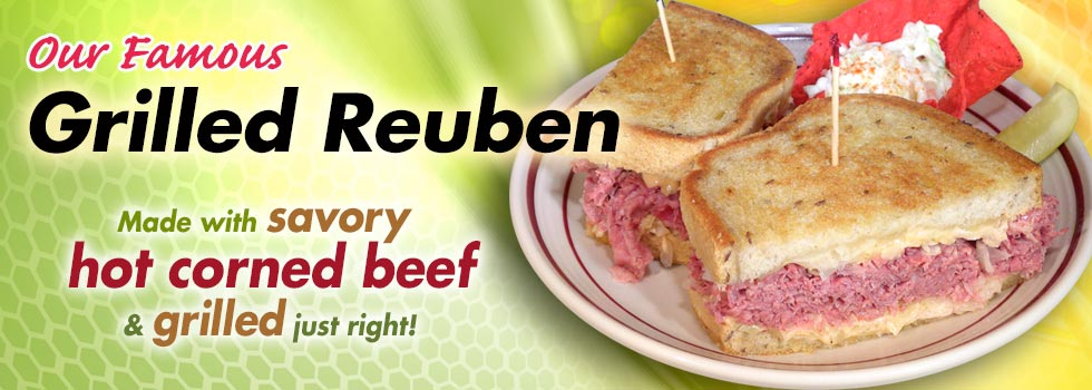 Our Famous Grilled Reuben - Savoy Hot Corned Beef Grilled Just Right