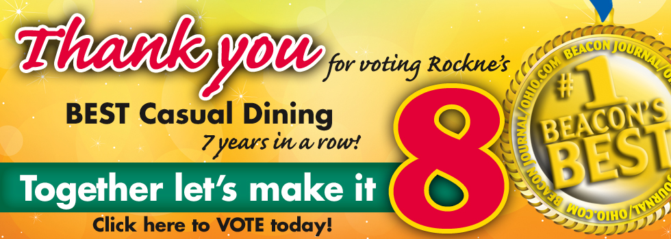 It's that time again. Vote for Rockne's for Beacon's Best.